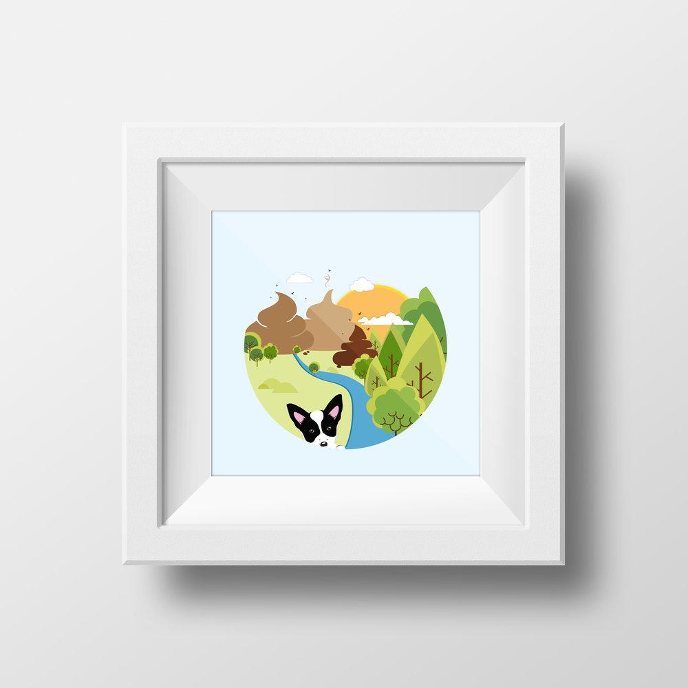 Eco PawPrint Illustration