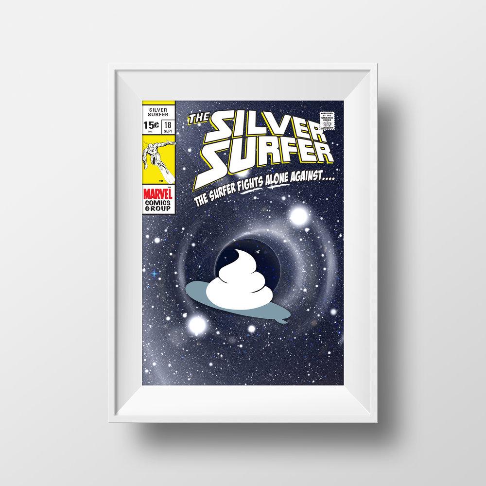 Silver Surfer Poop Poster Series