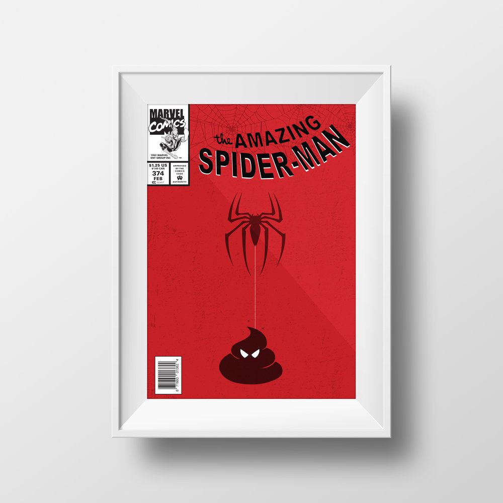Spiderman Poop Poster Series