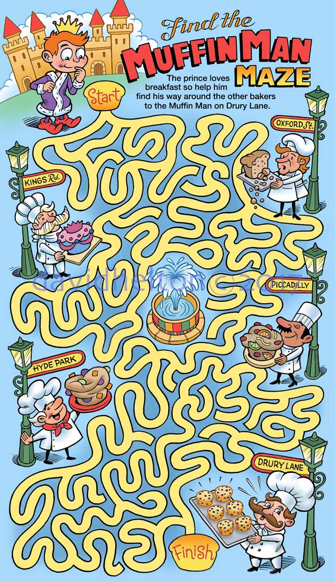 """Find the Muffin Man"" maze"