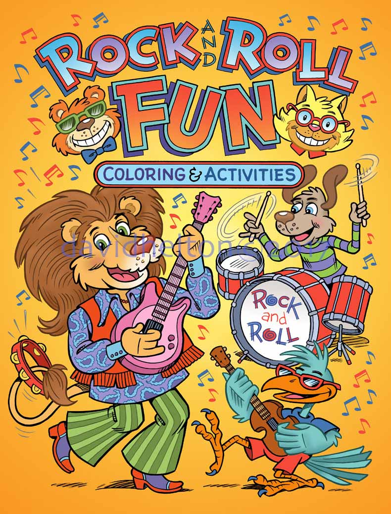 Rock and Roll coloring and activities