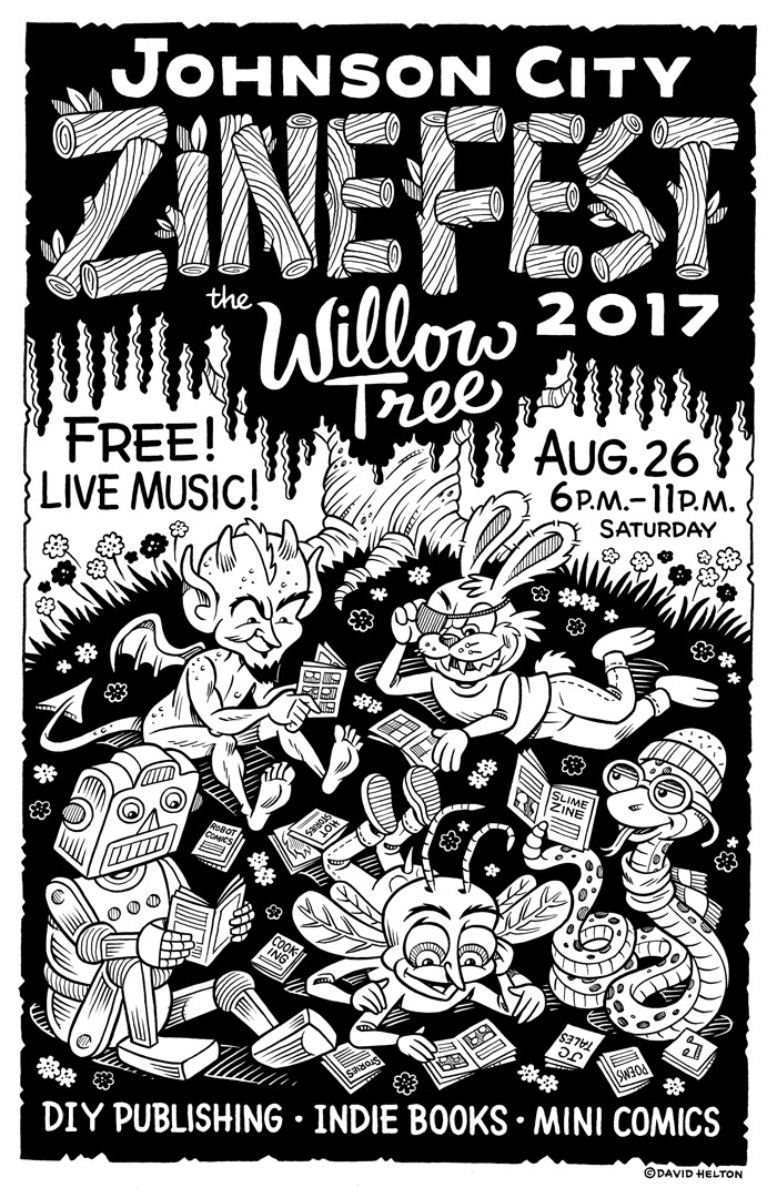 Johnson City Zine Fest Poster