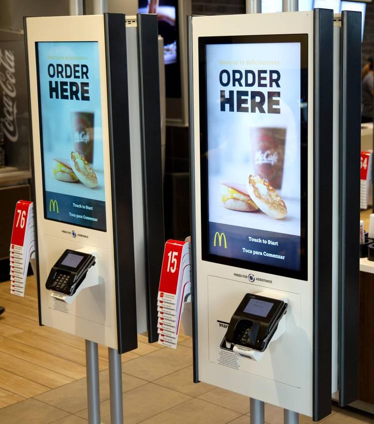 McDonalds time of day ordering screens