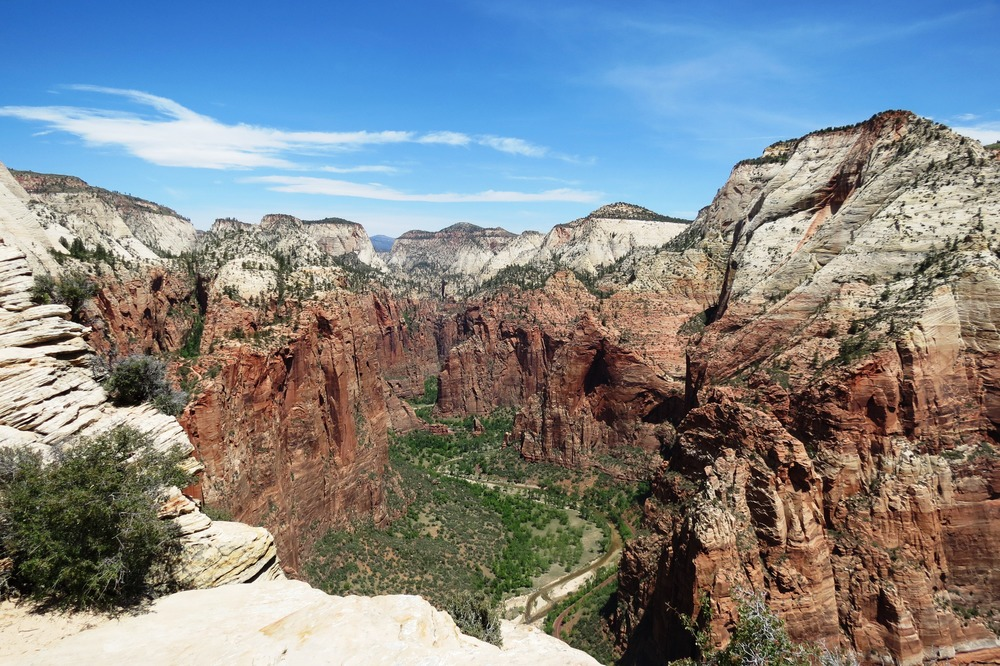 View of Zion National Park from the Angel's Landing Hike...the view is well worth the hike!