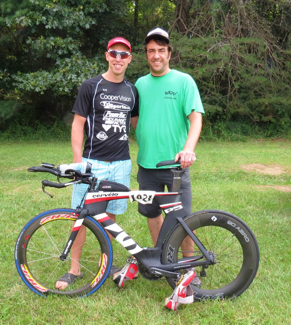 Jason from Bonzai Sports with the Zipp 404
