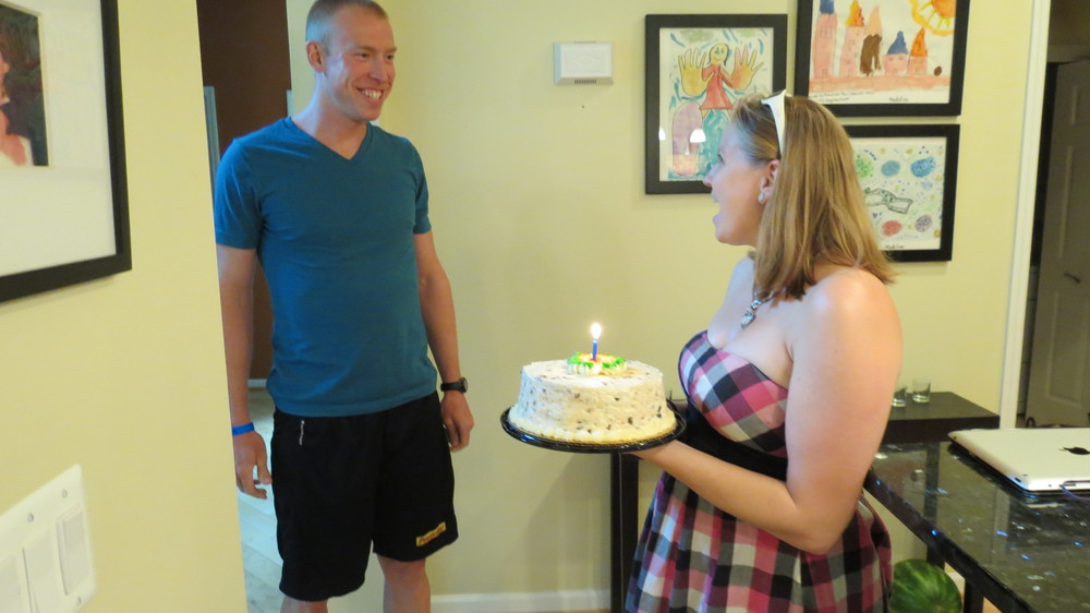 A surprise birthday cake from my beautiful wife Chelsea!