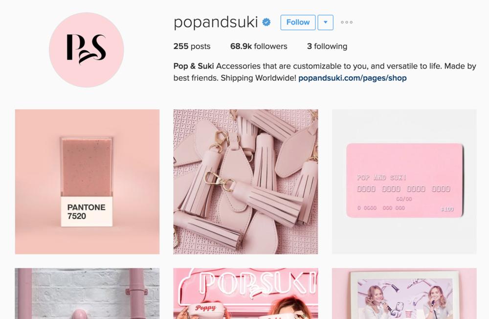 Pop & Suki's stellar social media content curation strategy.