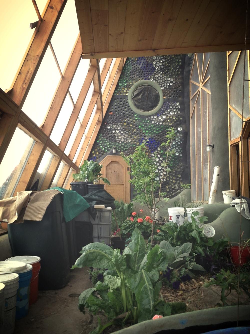 Greenhouse under construction.