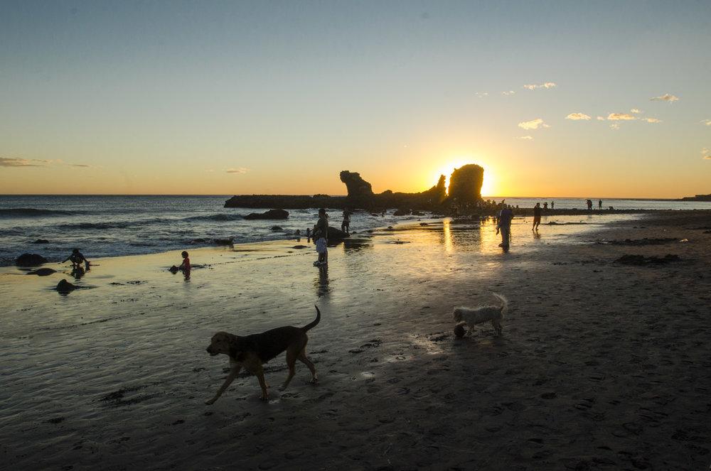 Dreamy sunset at El Tunco