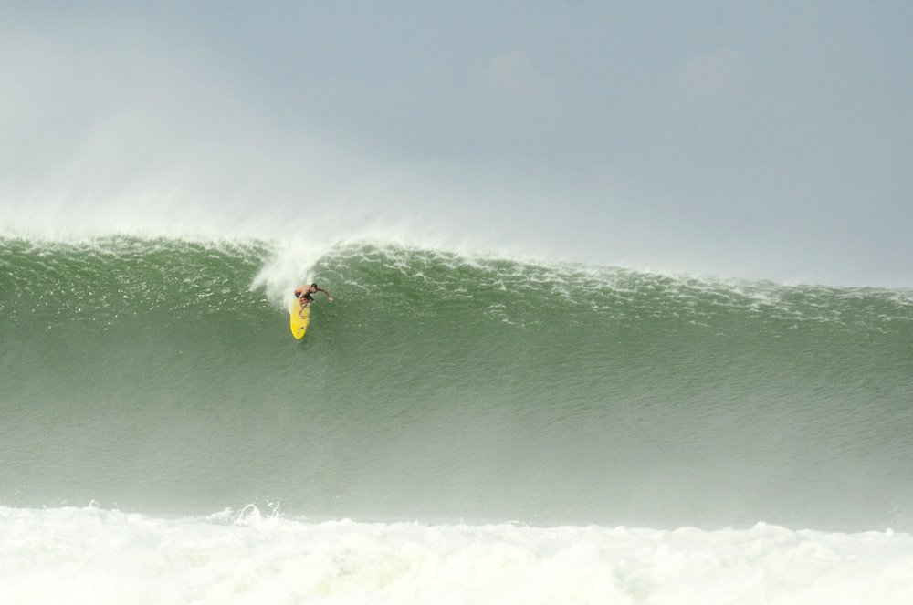 Will Skudin, big wave charger from NY dropping in a BOMB!