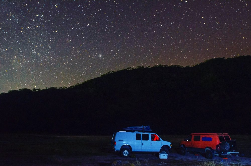 Spending the night in a crater, El Salvador