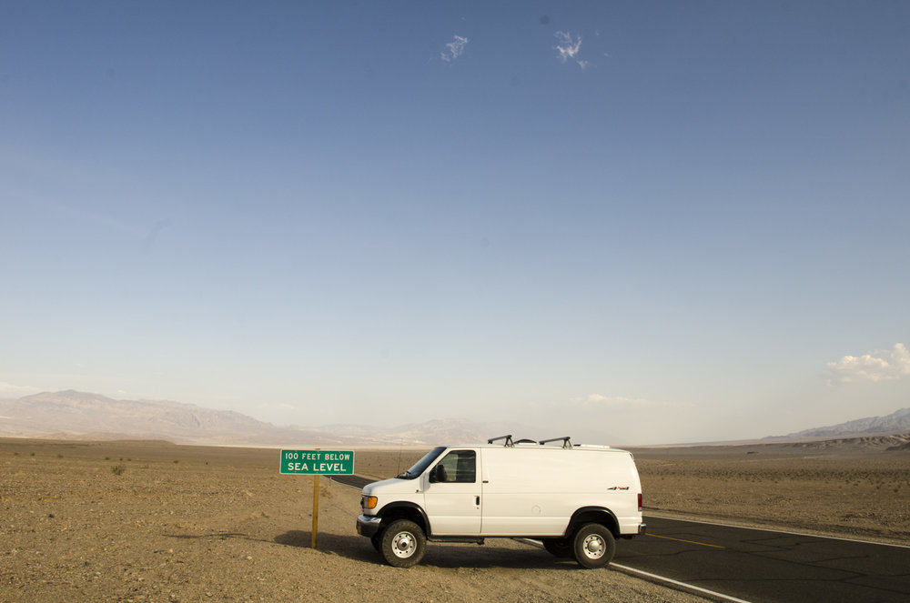 100 ft below sea level with the van