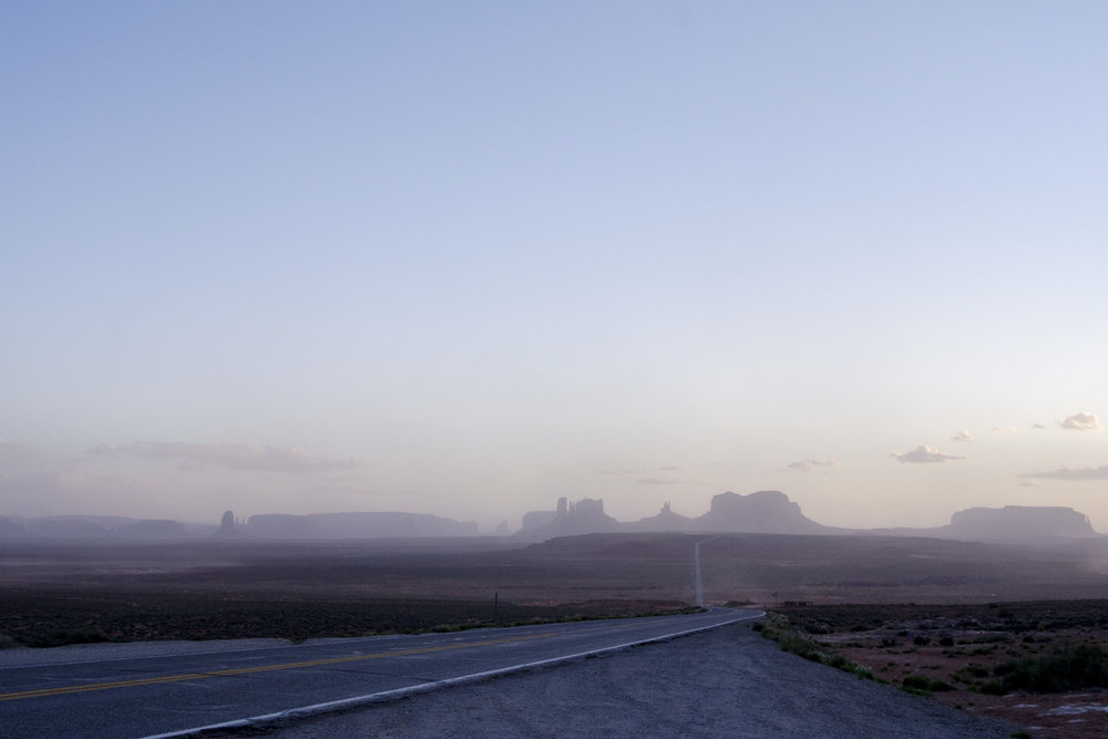 First view of Monument Valley