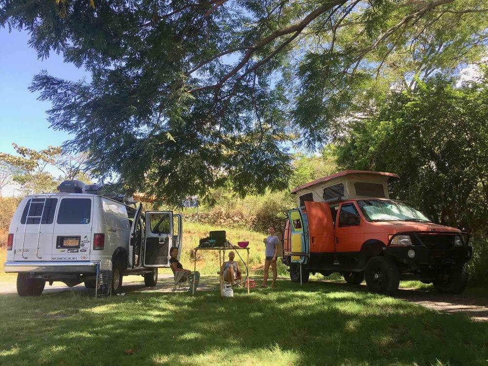 Camping with John and Mandi