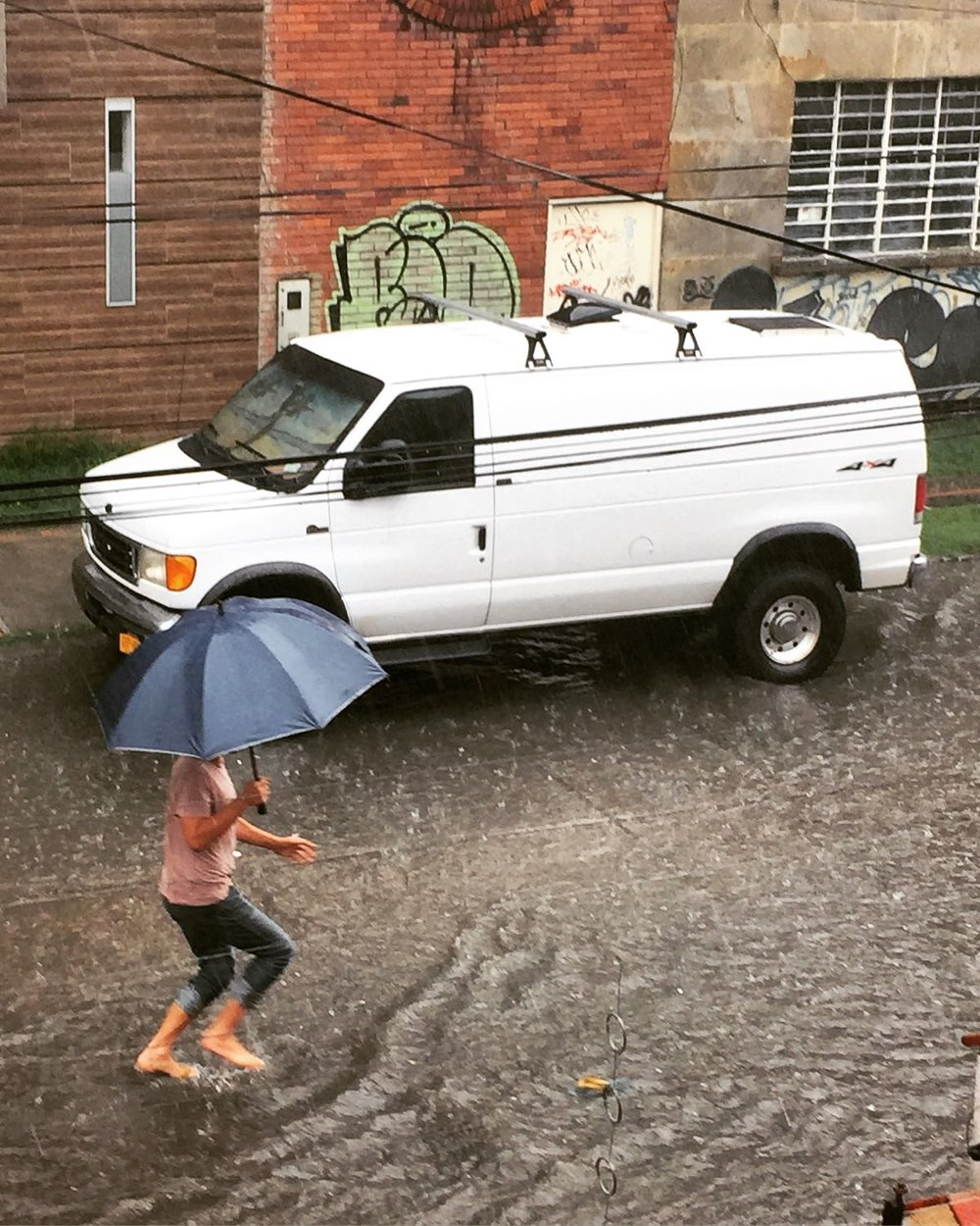 The rain in Bogota is so heavy it could steal your flip flops if you aren't careful, that is not a similarity it shares with Lima