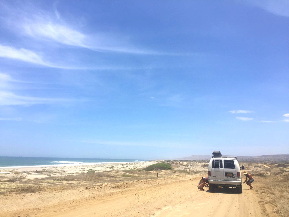 On the way to Cabo Blanco