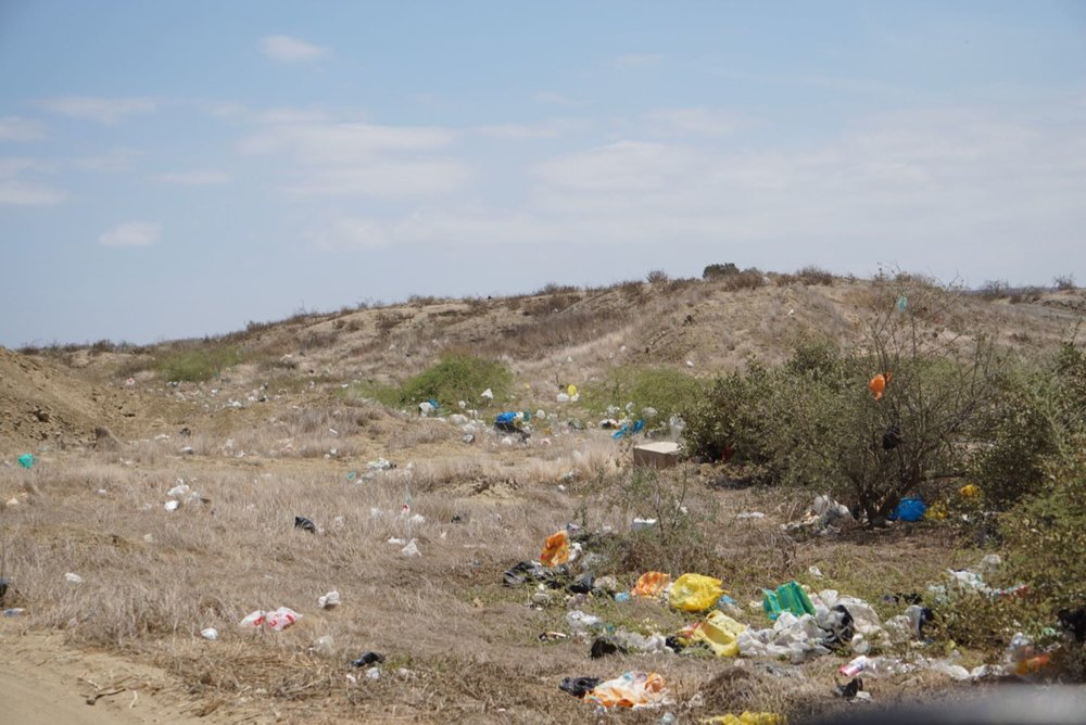 The beautiful desert trashed all over the place