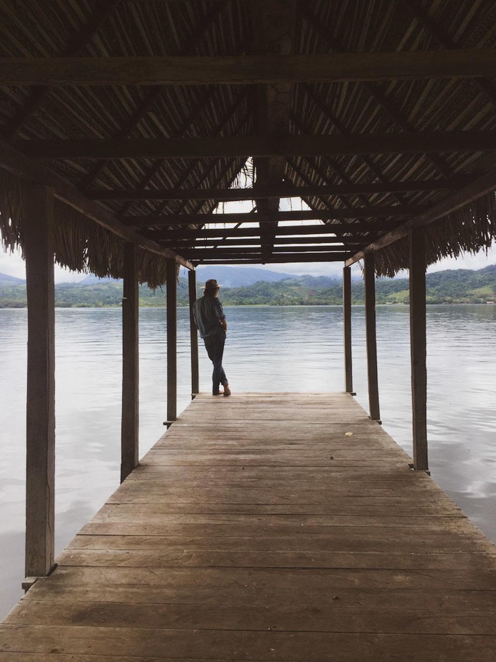 Peaceful times by the laguna Azul