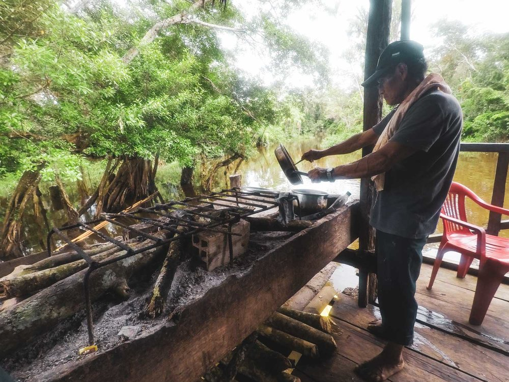 Cooking with wood