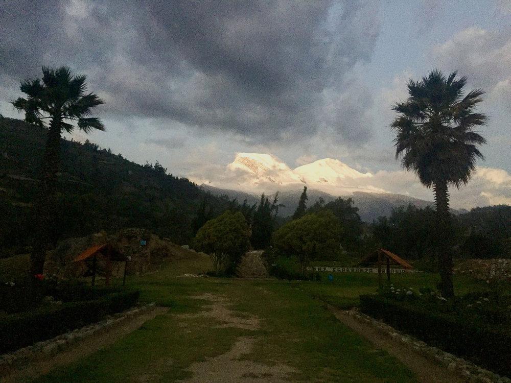 View of Husacaran from Yungay Memorial