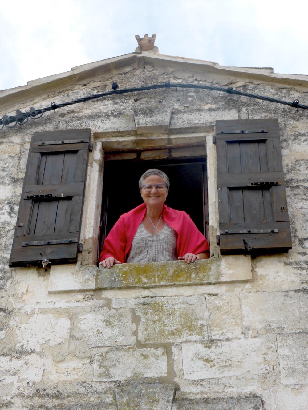 Regina in Lacoste, France, Spring 2014