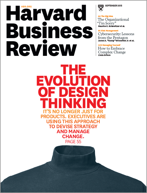 Harvard Business Review Magazine, September 2015 Issue