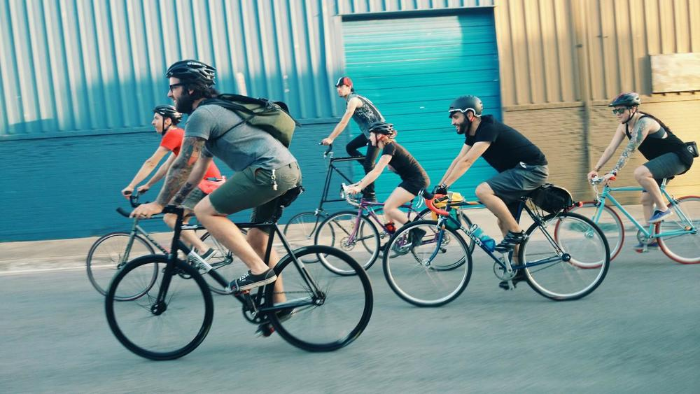 A few of our friends, enthusiasts and employees out on our many social rides.