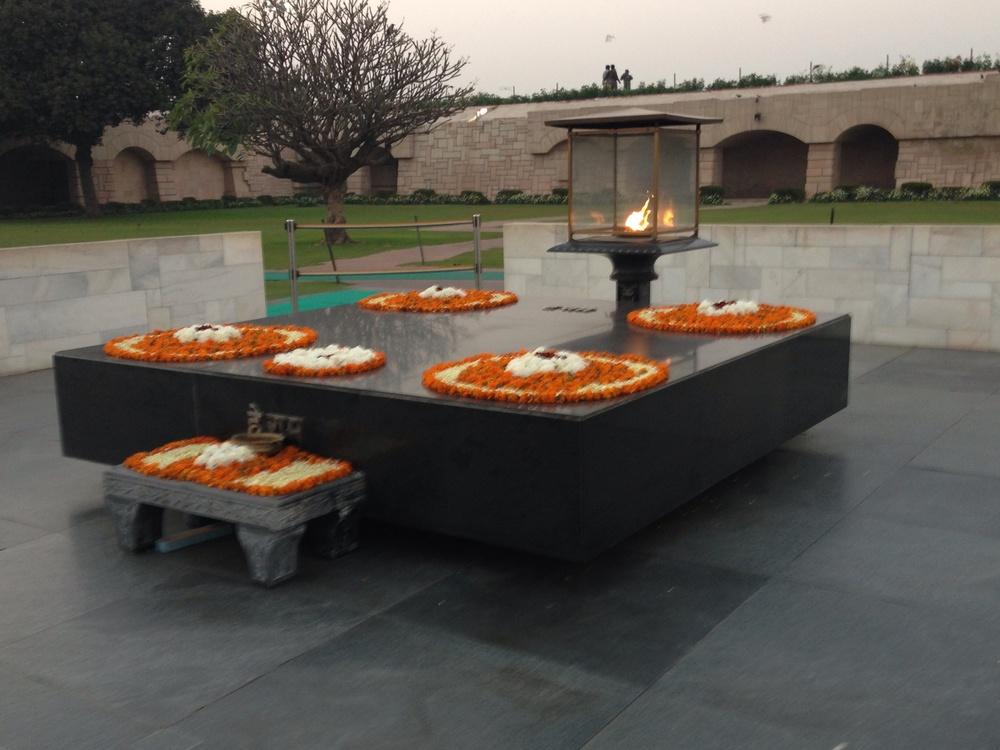 Ghandi's gravesite