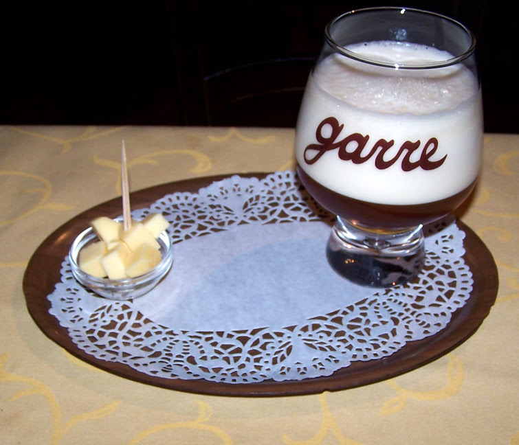 The best beer in the world, The de garre beer at de garre pub on the 3' wide de garre alley in Brugges, Belgium.