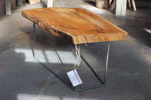oak live edge coffee table-magic city woodworks