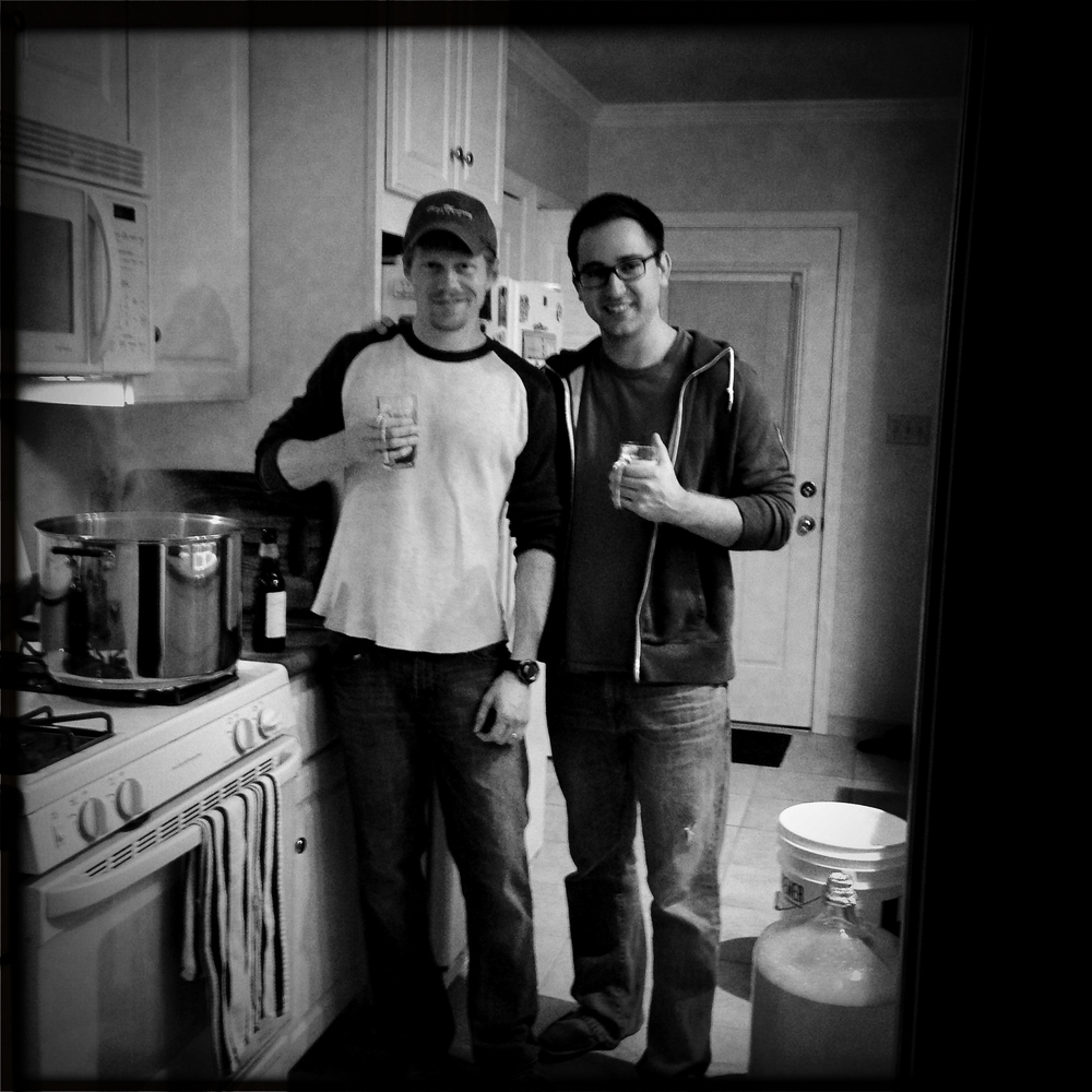 One of Kyle and Brett's first brew sessions in the kitchen... Extract.