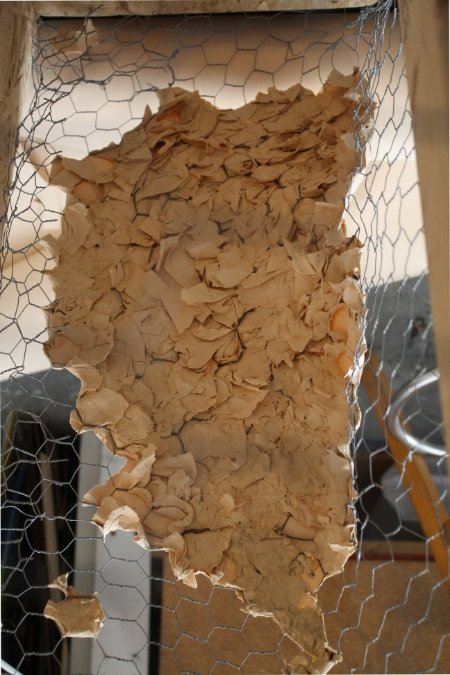 paper pulp and poultry fence/work in progress