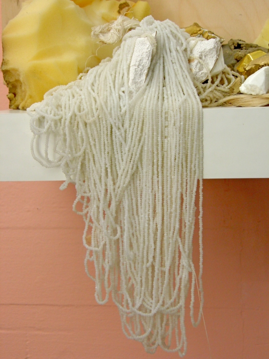 niagara beads  bed foam, dry wall and ikea
