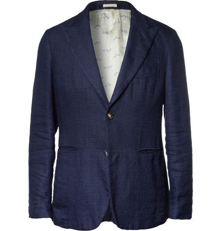 Deus Unstructured Linen Blazer by Massimo Alba