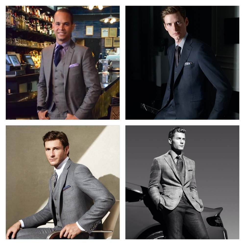 From left clockwise: Ian Rios, Canali, Hickey Freeman, Samuelsohn.