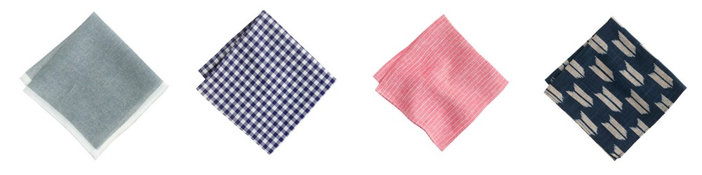 Pocket Squares all by  J. Crew