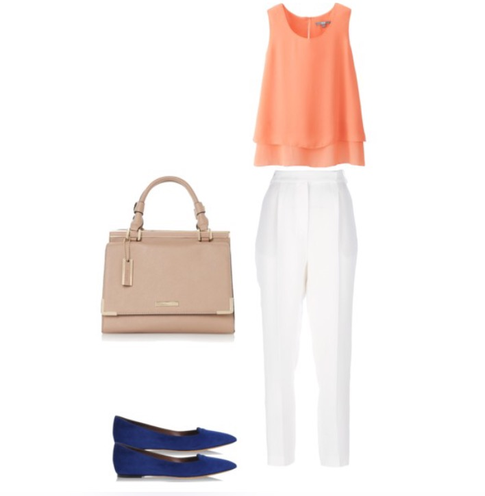 Bag, Flats, Top, Pants