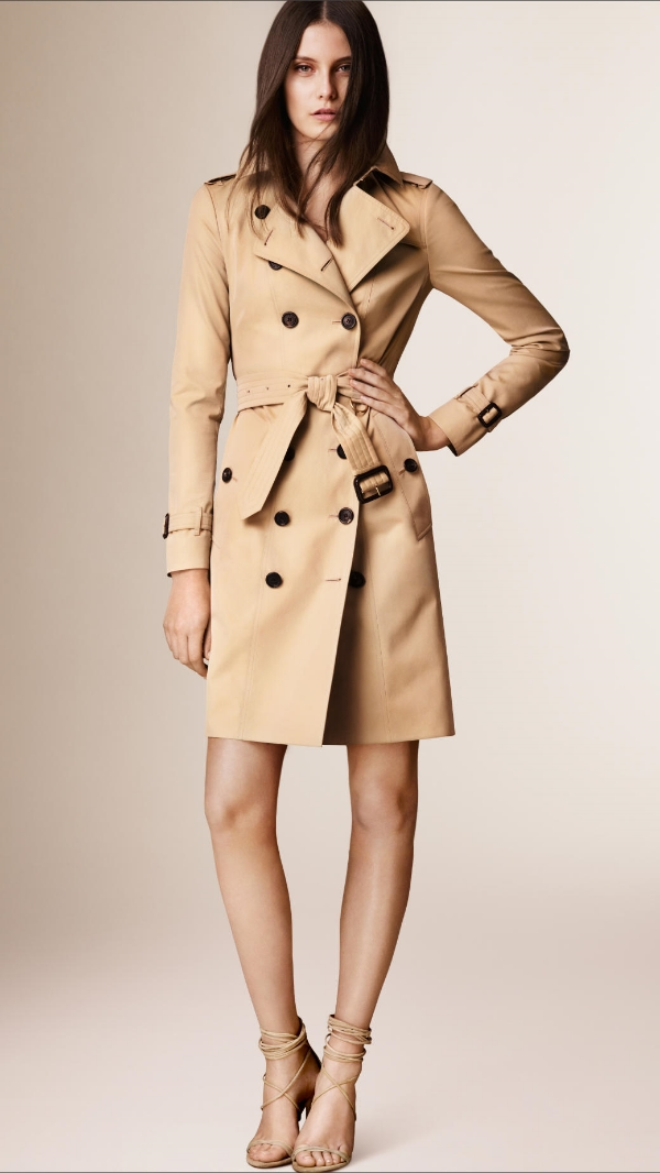 Start with the classic Burberry trench, available at www.us.burberry.com