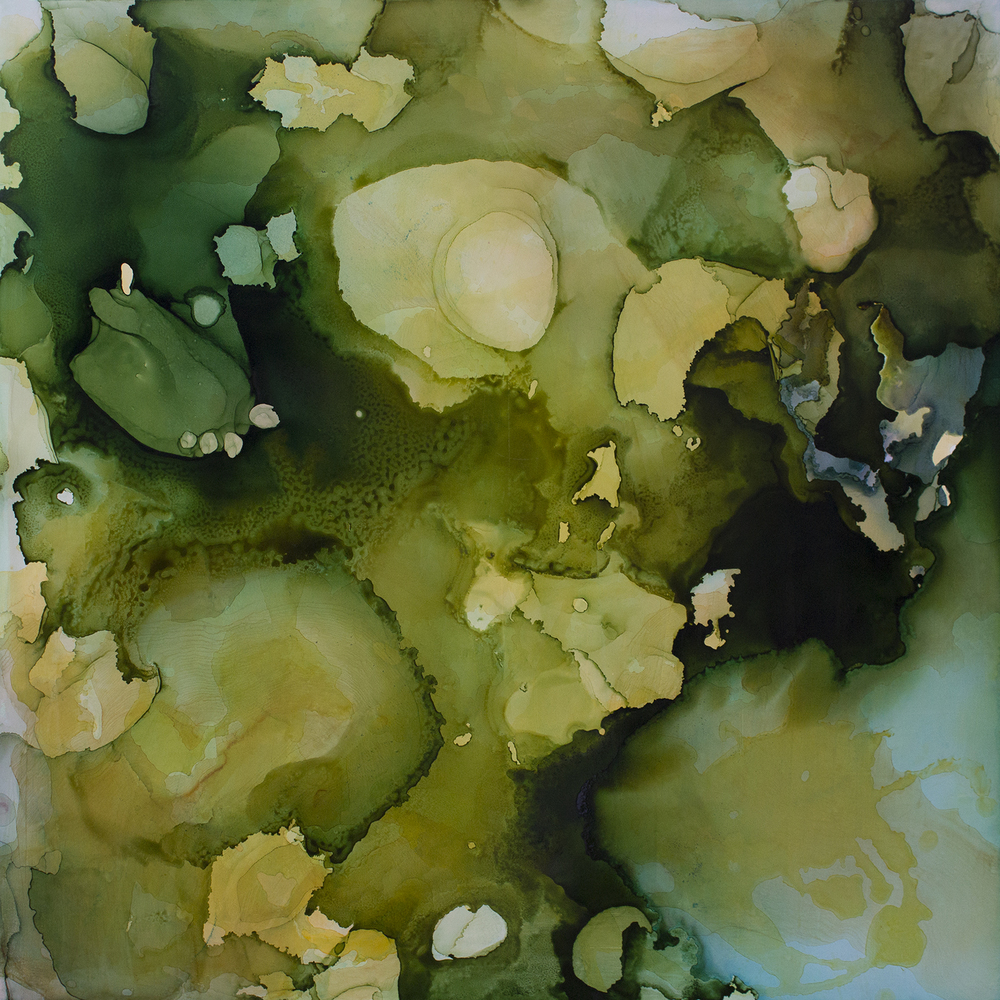 Resting Limbs by Andrea Pramuk, mixed media on Claybord, 36x36, 2014
