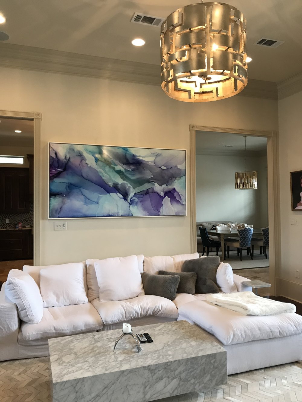 "Wingspan II,  40""x80"", installed in private residence, Baton Rouge, La. Photo courtesy  FW Gallery  2018."
