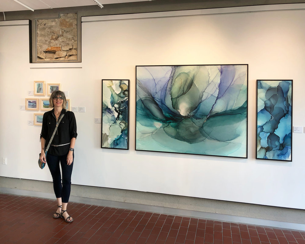 Fluid Worlds  at the  Georgetown Art Center  with  Lindsey Dunnagan  and  Greta Olivas , Georgetown, TX, July/August 2018.