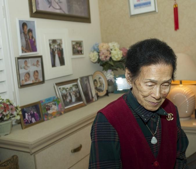 Po-Po, December 2014, in her room.