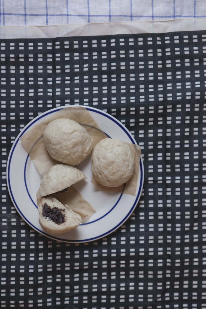 Steamed red bean baos. Photo by Yudi ELa