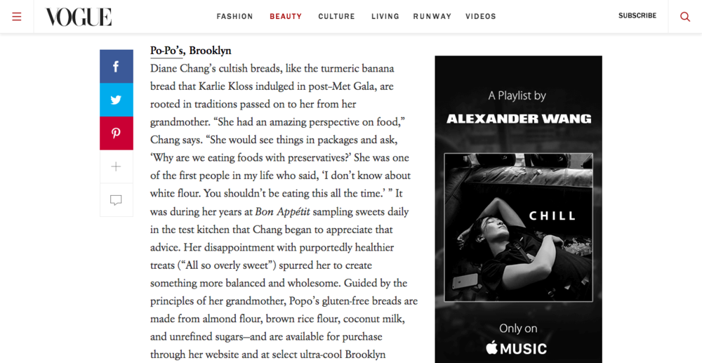 Vogue.com, May 2016