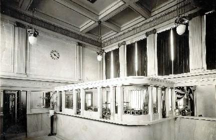 Bank interior circa 1920