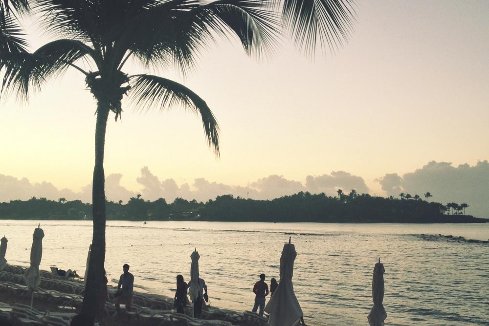 First sunrise of 2014 — La Romana, Dominican Republic