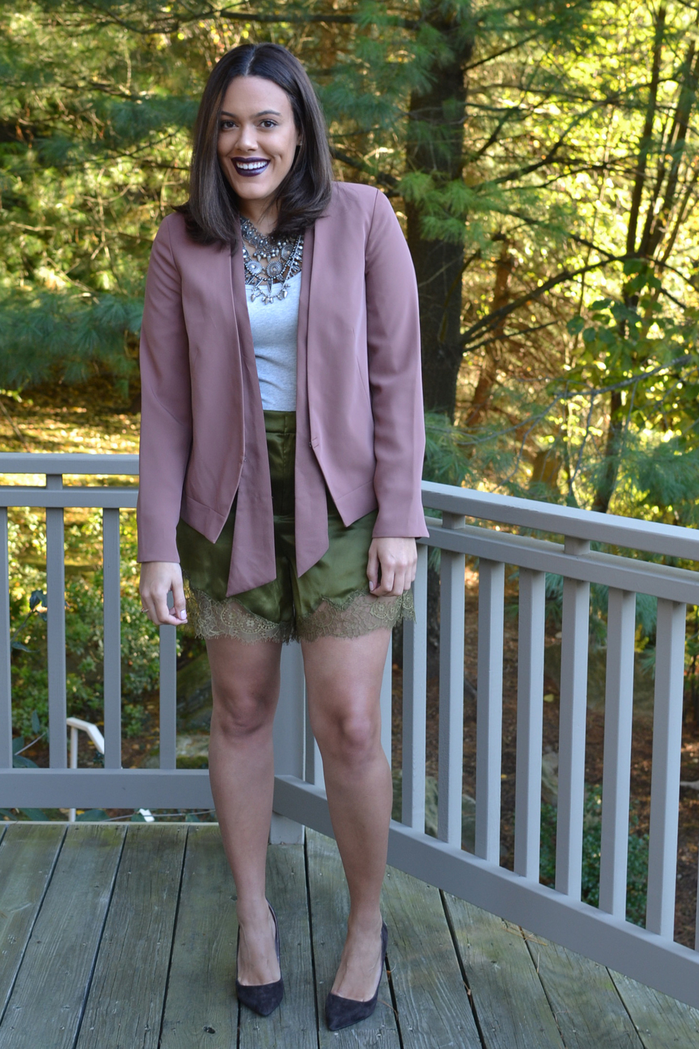 how-to-wear-hm-studio-lace-trim-shorts-blush-and-olive-cyber-lipstick.jpg