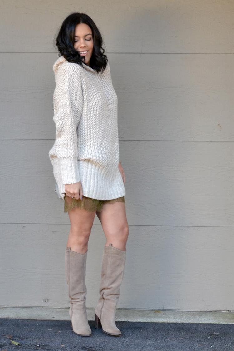 Wearing H&m Sweater Shorts