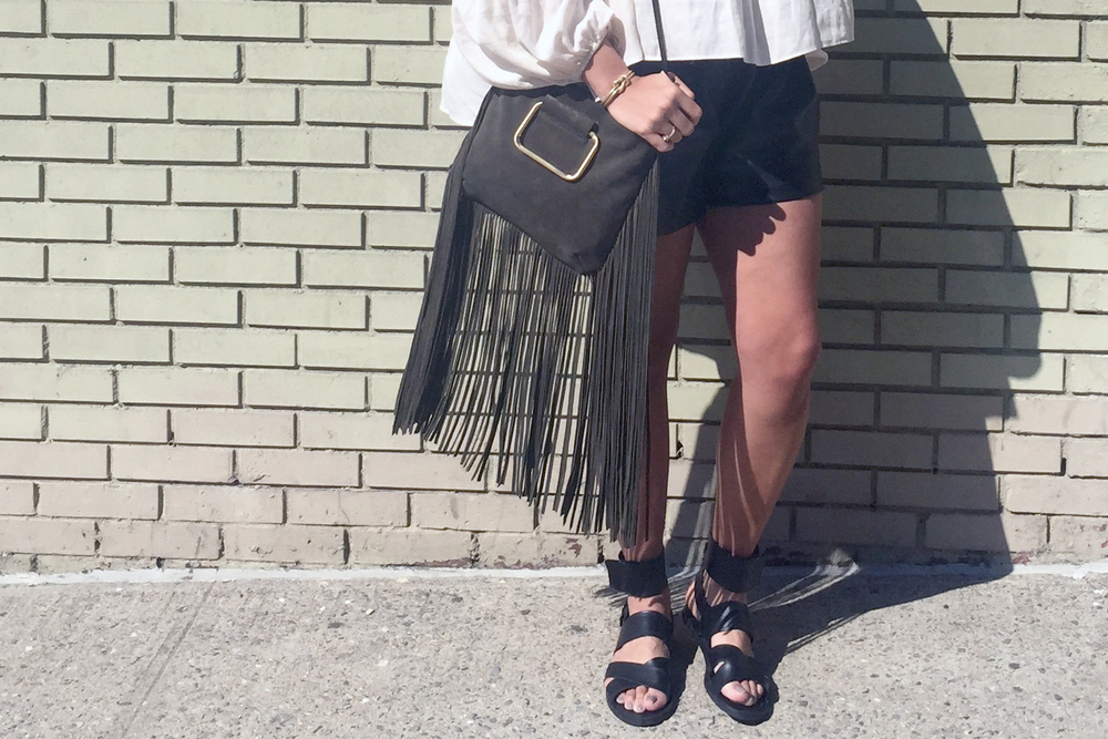 how-to-wear-hm-leather-shorts-zara-black-sandals-zara-fringe-bag-blush-coat.jpg