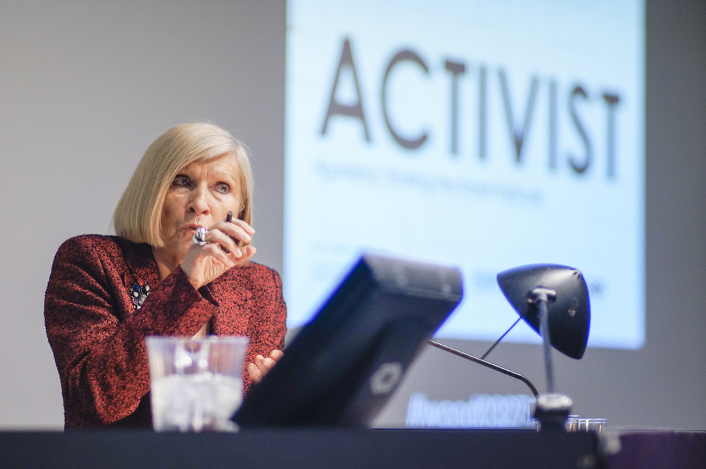 Chantal Mouffe discusses her book  Agonistics: Thinking the World Politically,  March 27, 2014, Wood Auditorium, Columbia University.